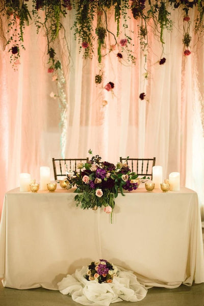 Set Wedding Backdrop With Candles