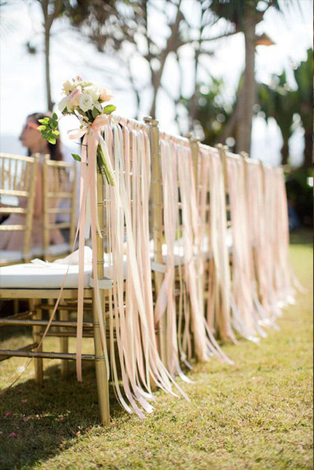 Amazing Wedding Chairs Decoration Ideas for Country Bride