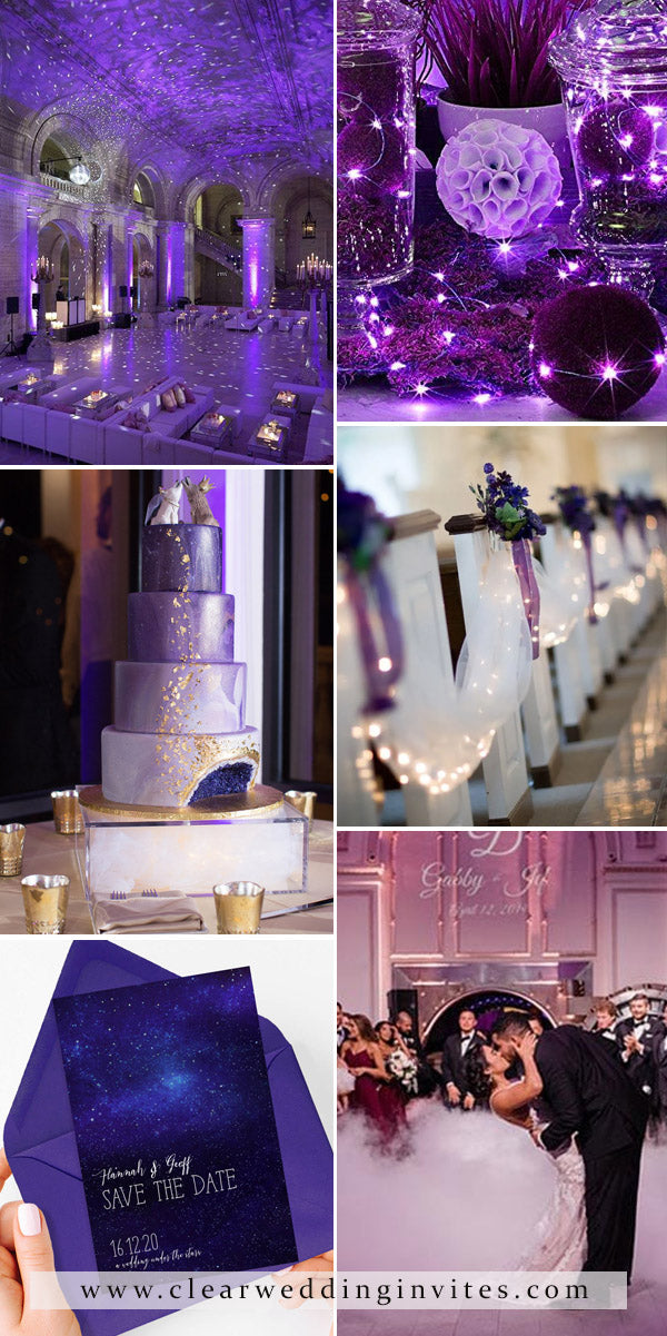 Starry Night Violet Wedding Deep and mysterious wedding color ideas