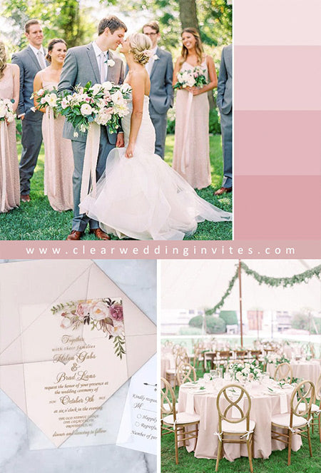 Fabulous Shades of Pink and Rose Gold Wedding Colors for 2022 Wedding Trends