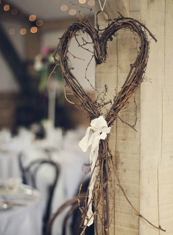 Swoon-worthy DIY Hearts Rustic Wedding Hanging Decoration for Your Wedding