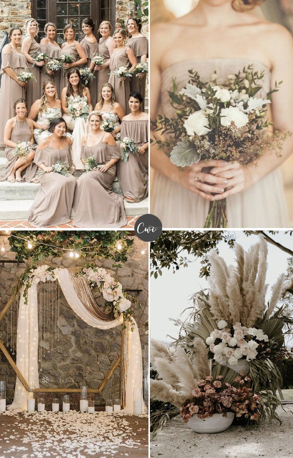 TAUPE,RUST&CHOCOLATE Unique Cozy Winter Wedding Colors To Be Stunning