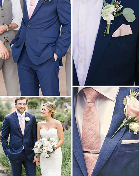 The Best Navy Blue and Pink Wedding Ideas and Matching Wedding Invites