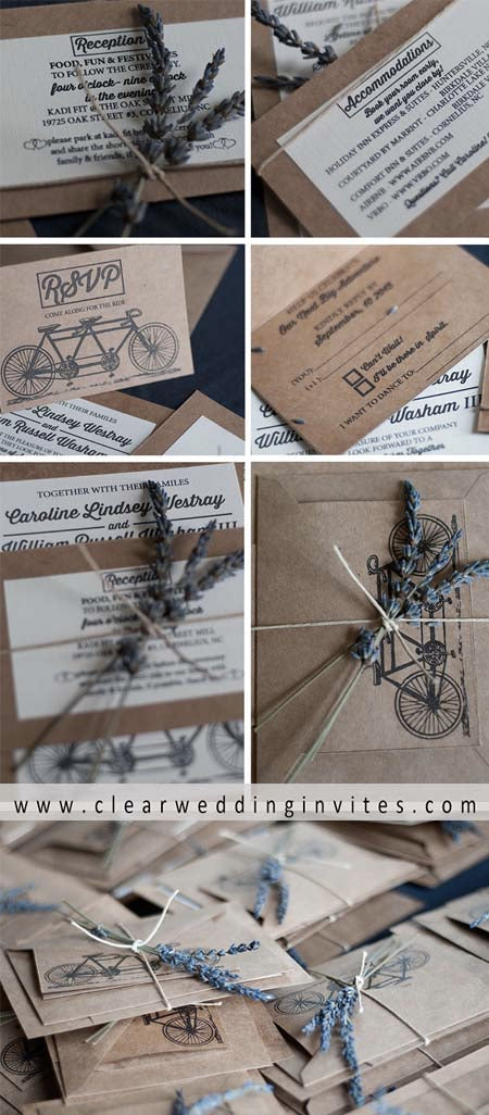 Trendy Bicycle Wedding Invitations to Add a Romantic Touch