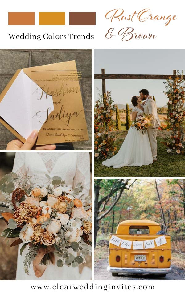 Trendy Romantic Terracotta and Greenery Fall Wedding Color Ideas