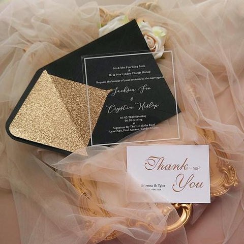 Luxurious Black and Gold Wedding Ideas and Black Wedding Invitations