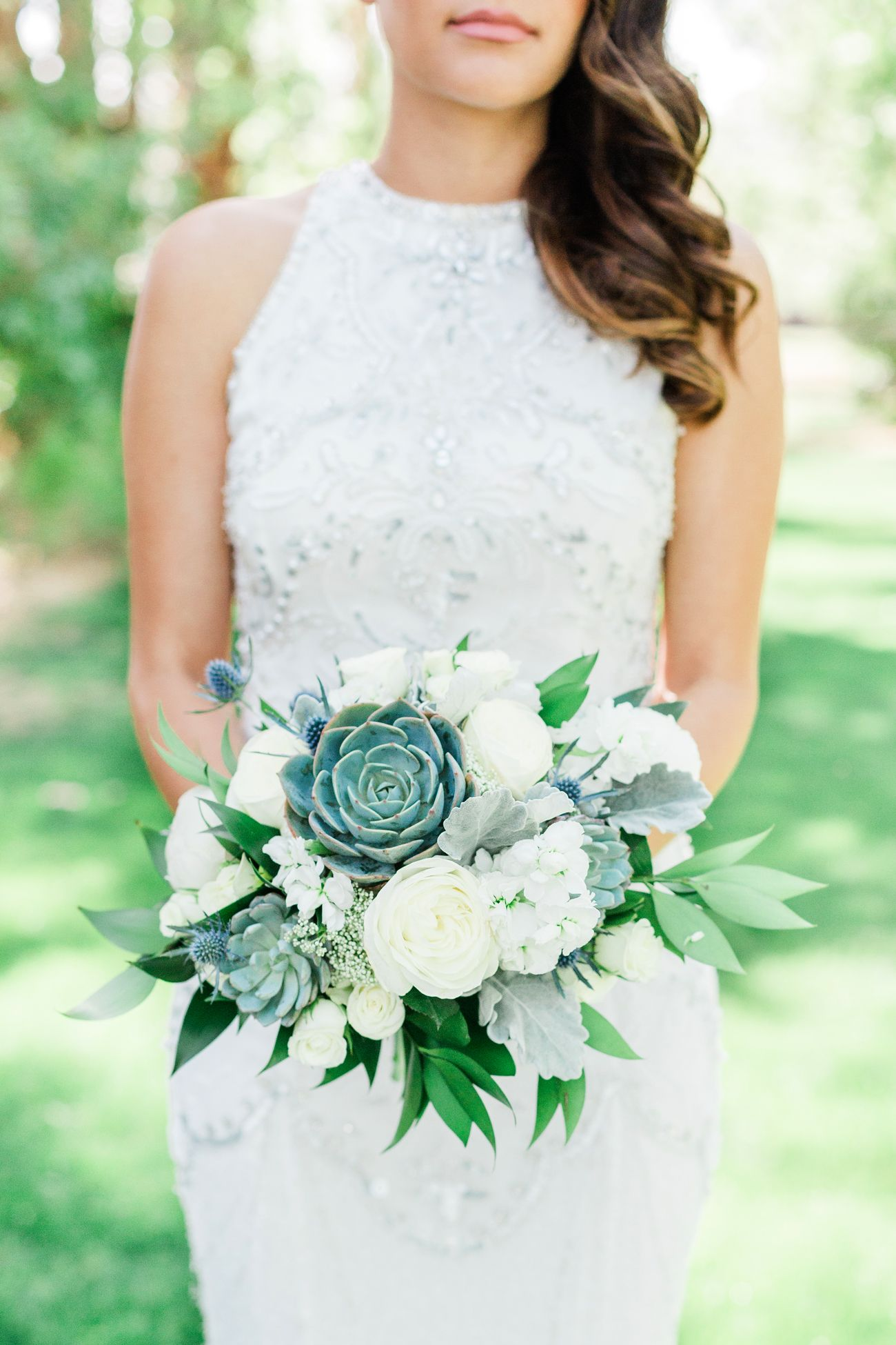 Use Succulents as Part of Your Wedding Bouquets