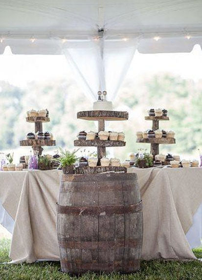 Tented wedding decoration to Use Wine Barrels in Your Wedding Decor