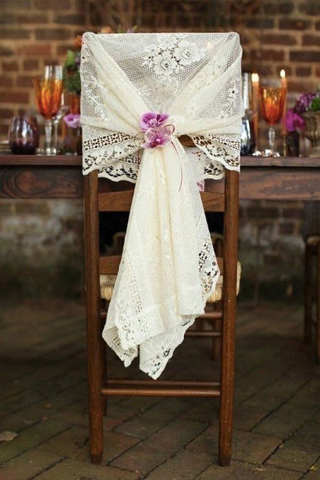 9 Amazing Wedding Chairs Decoration Ideas for Country Bride