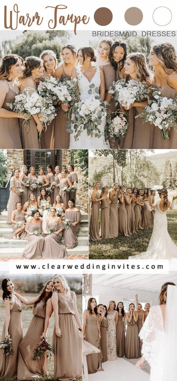 Warm taupe Neutral Bohemian vibe if you want to design your wedding
