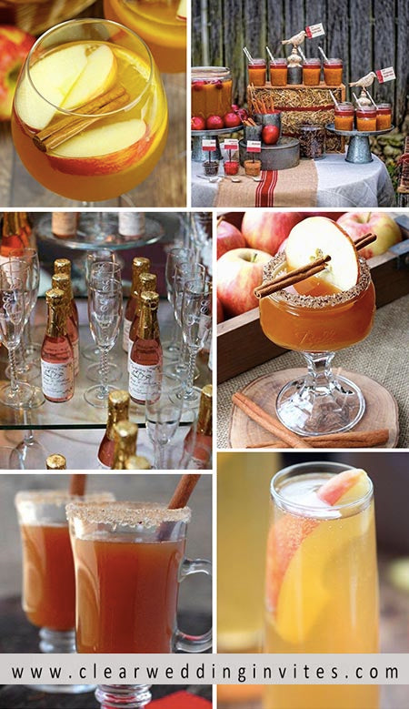 Warm your guests, young and old, up with a mug of hot cider at your reception