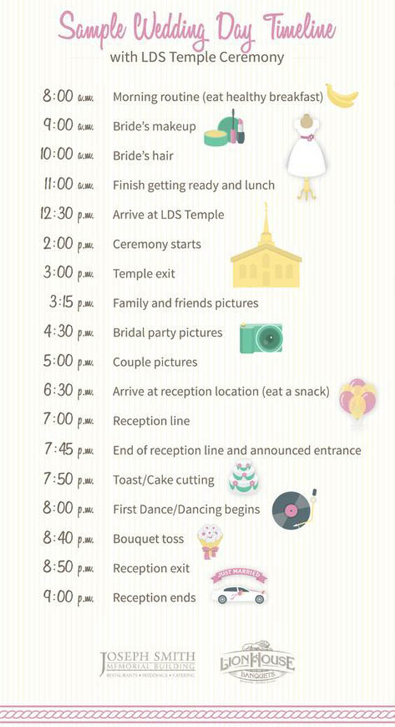 Wedding Day Timeline Ideas Every Couple Should Know