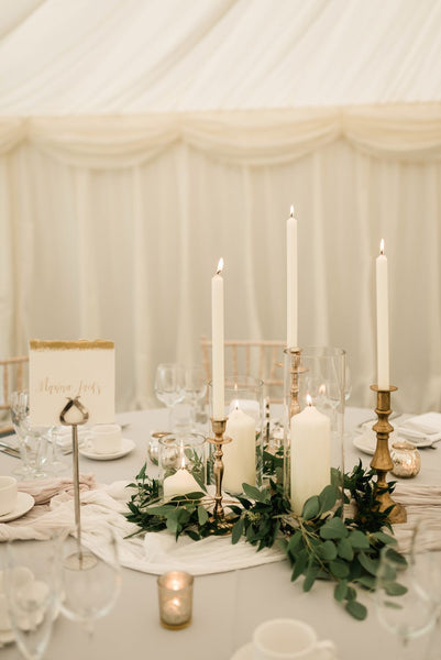 Wedding centerpieces with candles/ candlestick