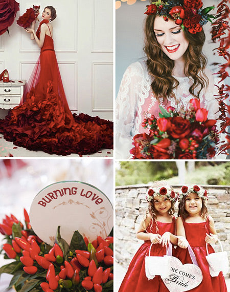 24 Winter Red Wedding Ideas We Actually Like