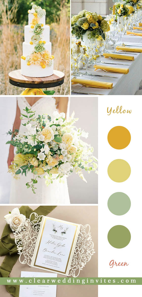 7 Refreshing Greenery Wedding Color Palette Ideas to Steal
