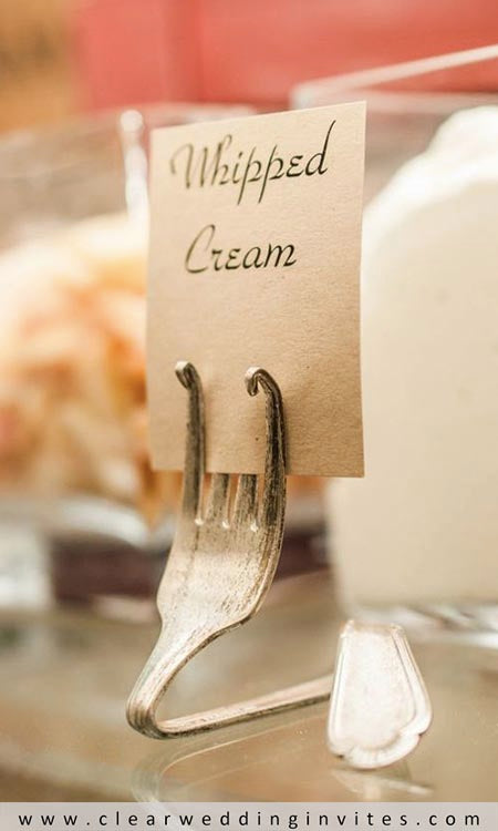 You can bend forks in so many creative ways and the prongs make it easy to hold your cards
