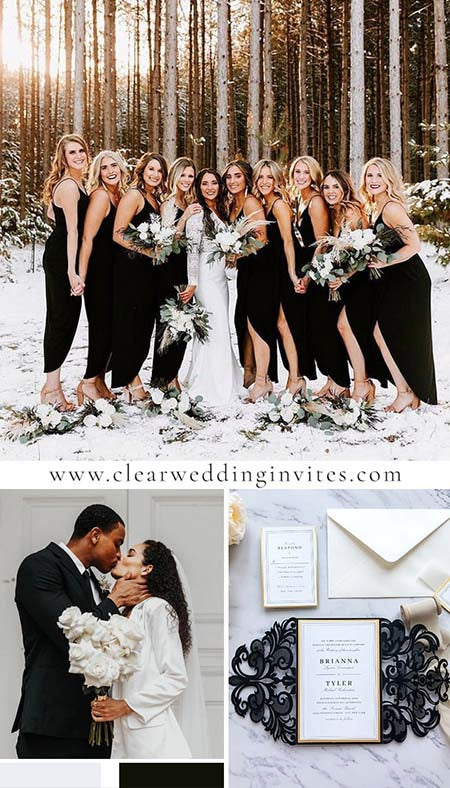 20+ Inspirational and Classic Black&White Wedding Ideas