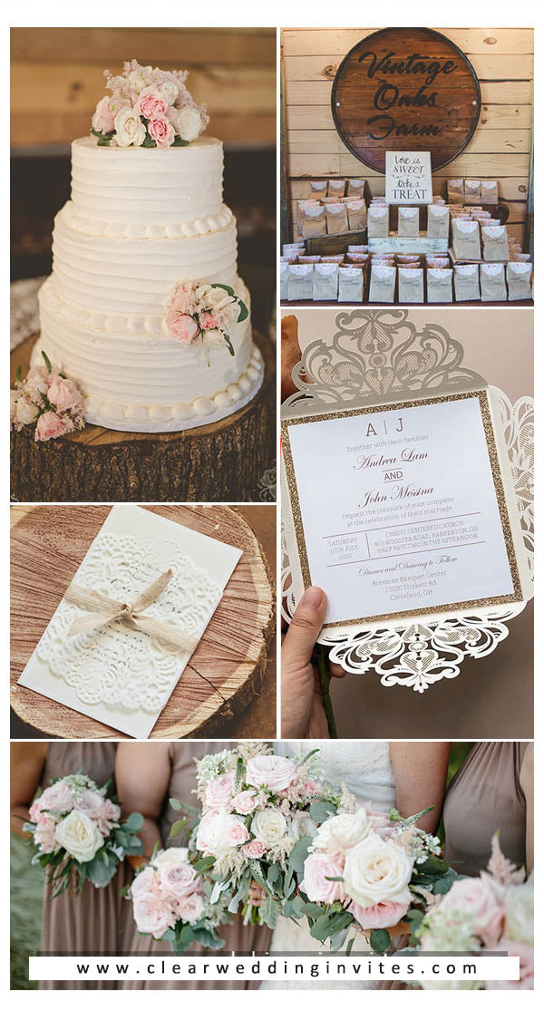 Blush Pink and Coffee Brown wedding color ideas