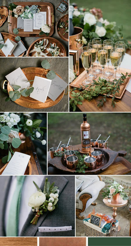 Metallic Copper and Greenery Wedding Decor Ideas You Deserve to Try