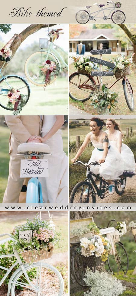 Trendy Bicycle Wedding Ideas to Add a Romantic Touch