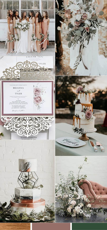 Metallic Copper and Greenery Wedding Invitation Ideas You Deserve to Try