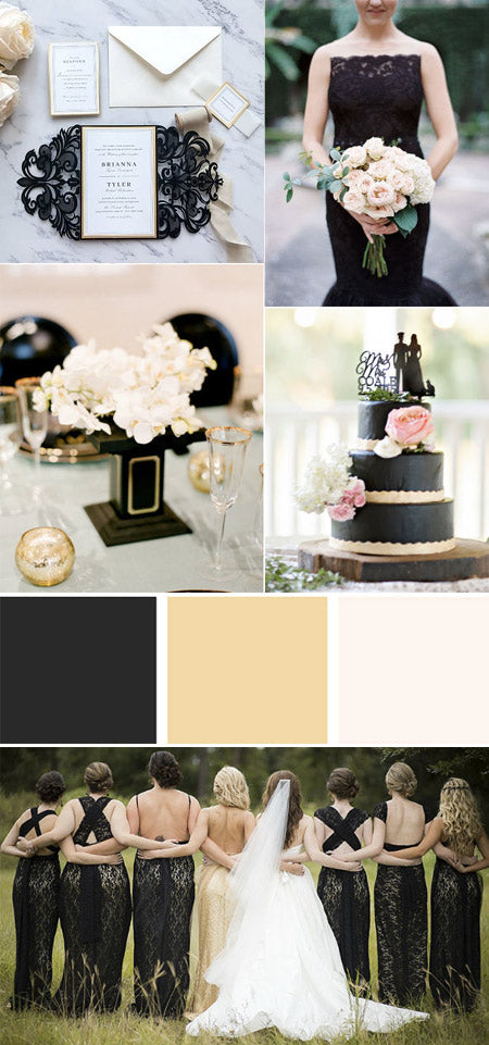 Fabulous black and gold Wedding Colors for 2022 Wedding Trends