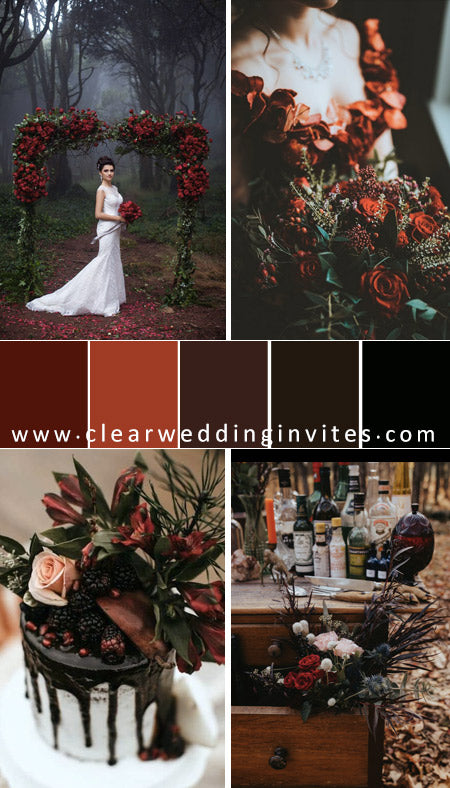 enchanted-forest-black-and-red-wedding-color-palette