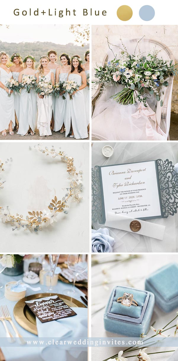 No doubt that blue is one of the most popular colors to use as a wedding theme