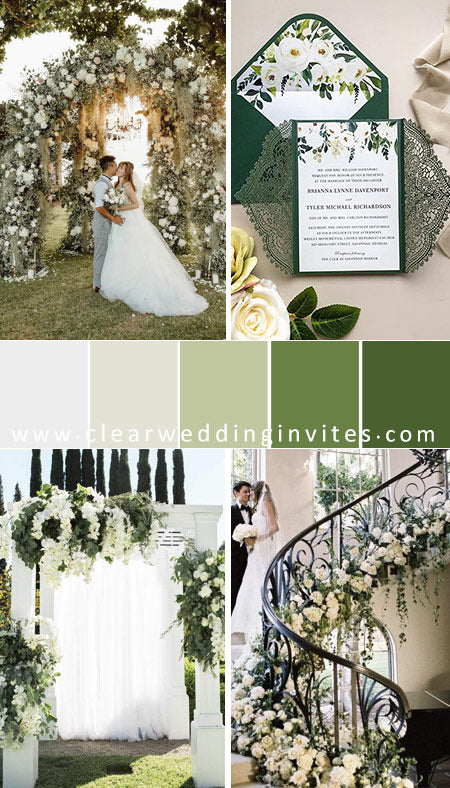 greenery-botanical-garden-wedding-color-palette-with-giant-lush-flowers
