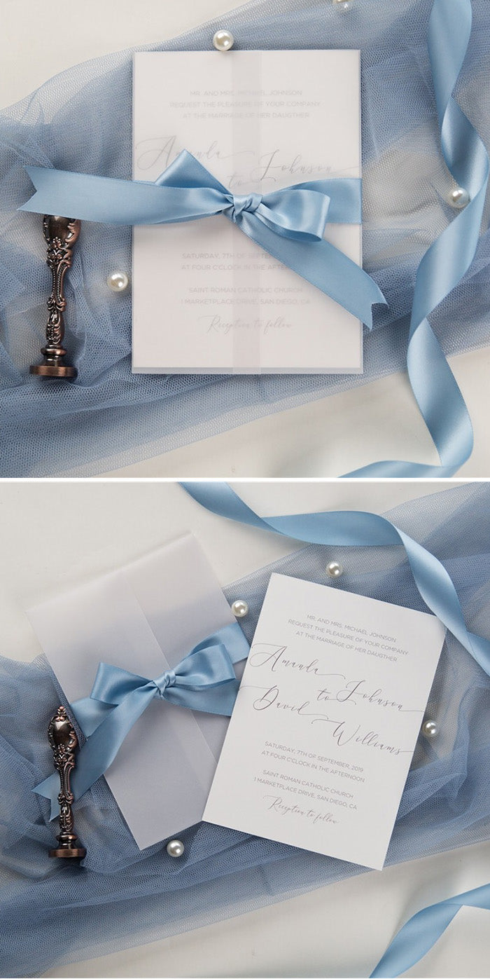 Use Frozen as your wedding invitation inspiration by literally covering them in snowflakes.