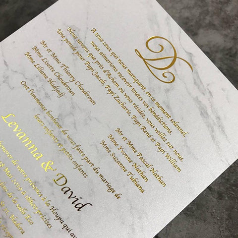 Popular Metallics/Gold foil Wedding Invitation Trends You Need To Know For 2022