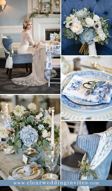 navy-and-french-blue-vintage-elegant-french-inspired-wedding-ideas
