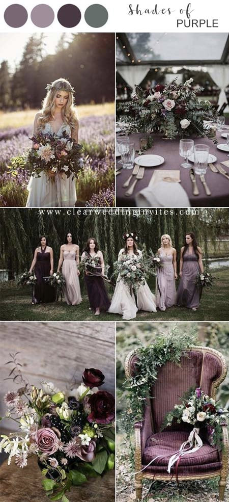 3 Mauve&Plum Ideas: Great for Your Fall or Winter Wedding