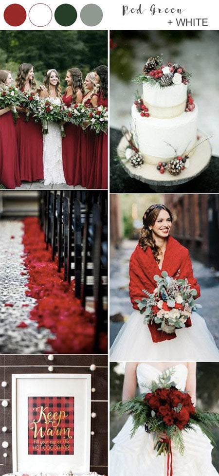 30+ Winter Wedding Color and Ideas Full of Christmas Spirits