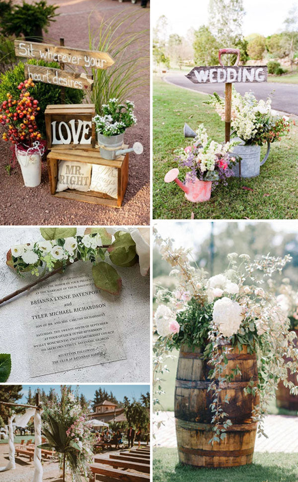 rustic wedding details perfect for infusing your big day