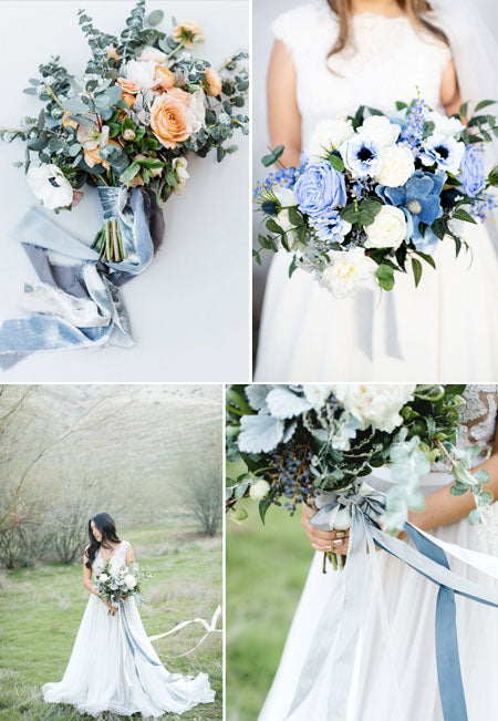 Slate Blue and Olive Branch Refreshing Greenery Wedding Color Ideas to Steal