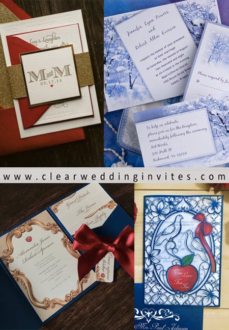 Disney Fairy Tale: Pure and Adorable Snow White Wedding Invitations