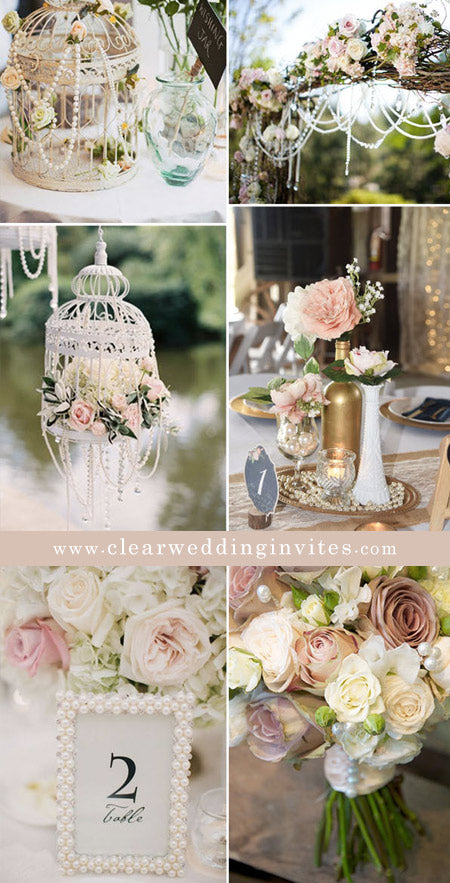 Cooperate crystal or pearl elements into your vintage weddings