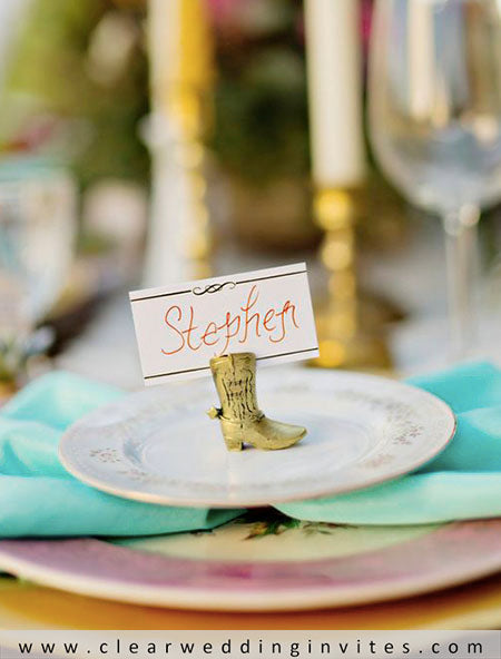 western boot place card holder is absolutely adorable