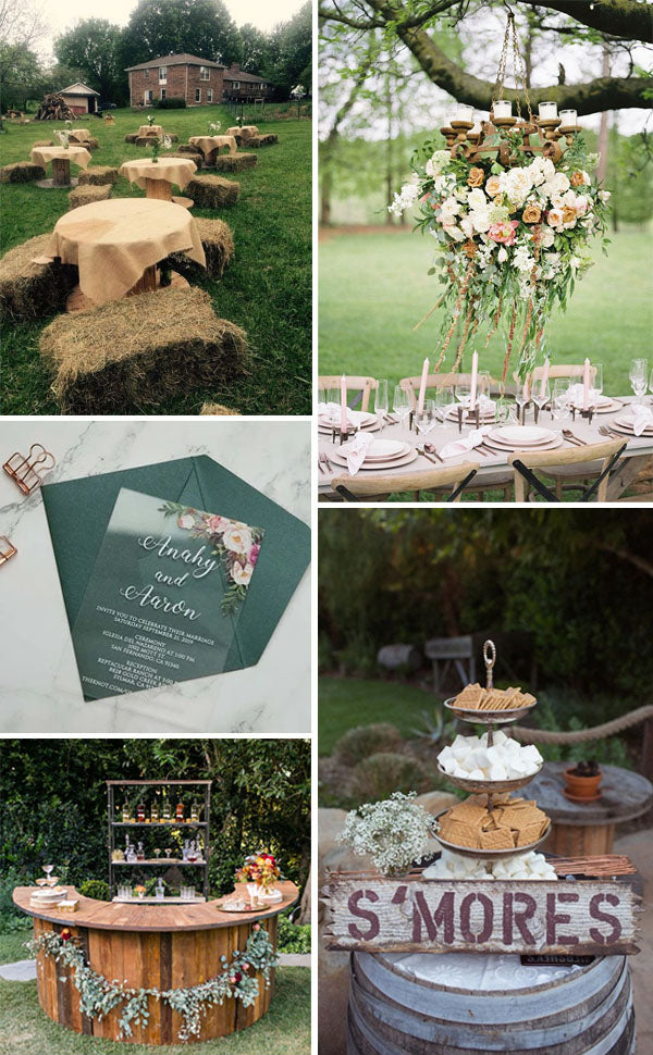 whimsical Outdoor Rustic Chic Country Wedding Ideas