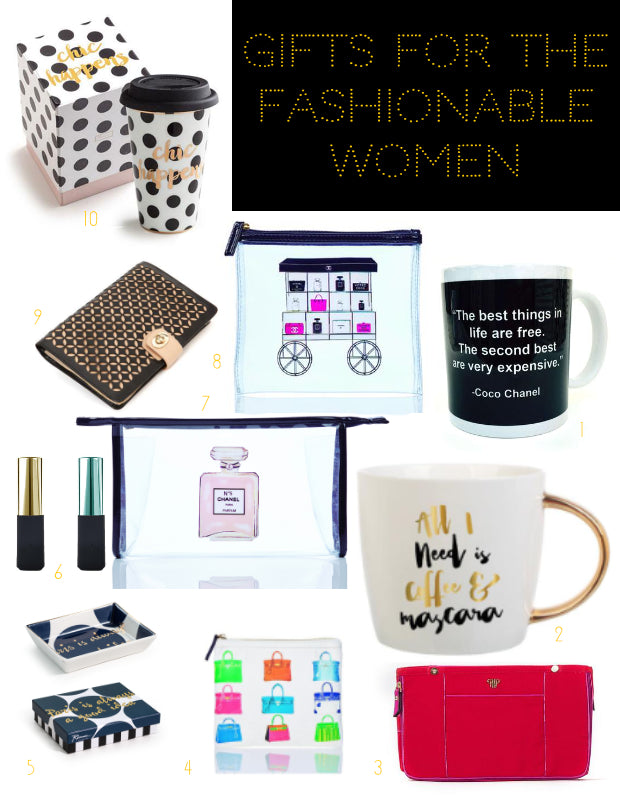 2016 Gift Guide - Gifts for the Fashionable Woman