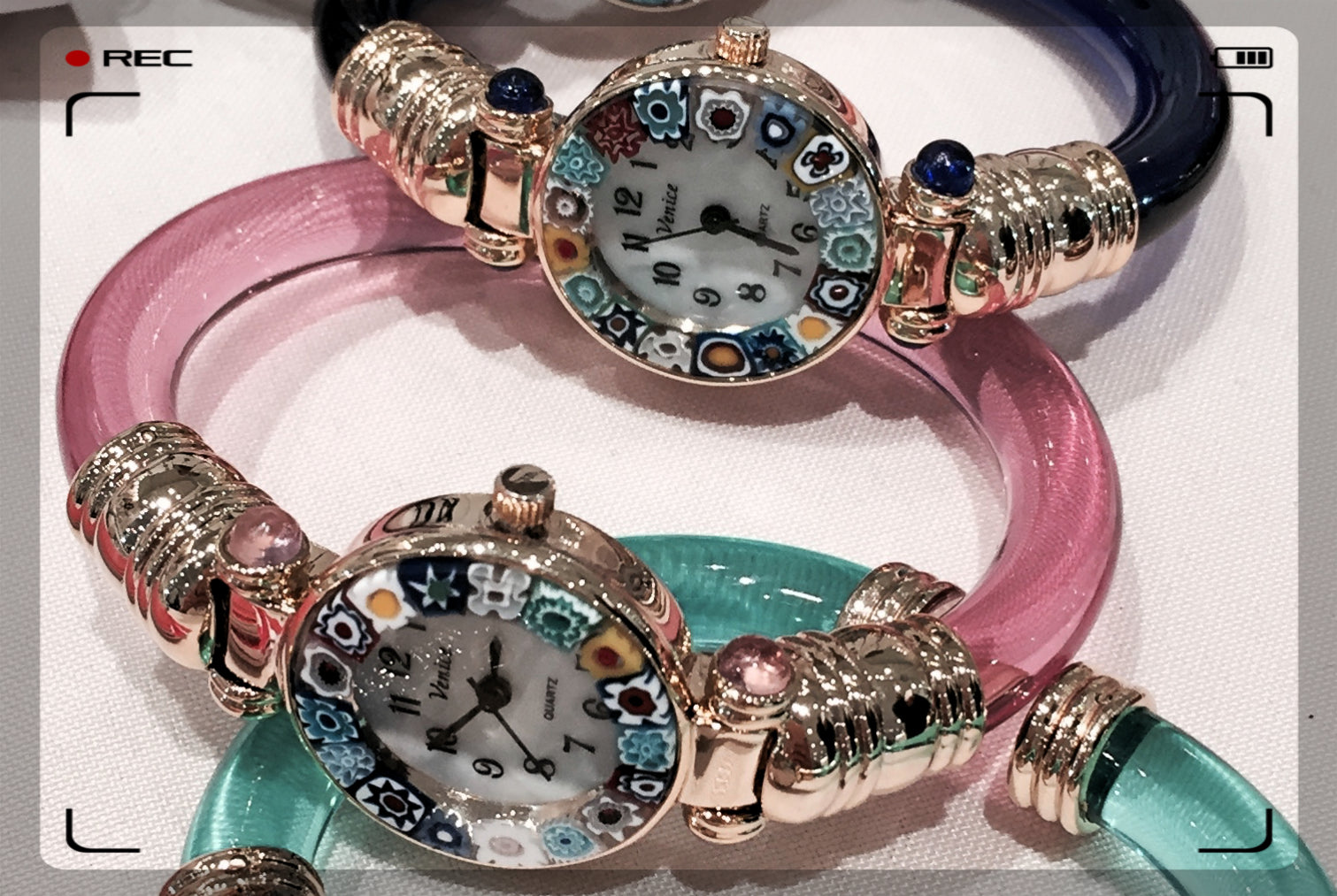 Murano Glass Watch Bangles