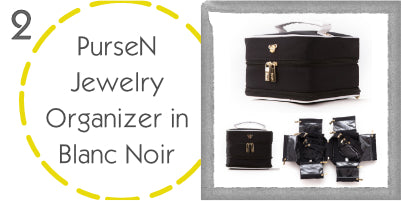 PurseN Jewelry Organizer in Blanc Noir