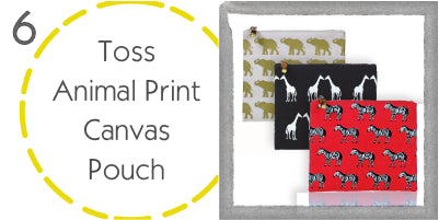 Toss Designs Animal Print Canvas Pouch