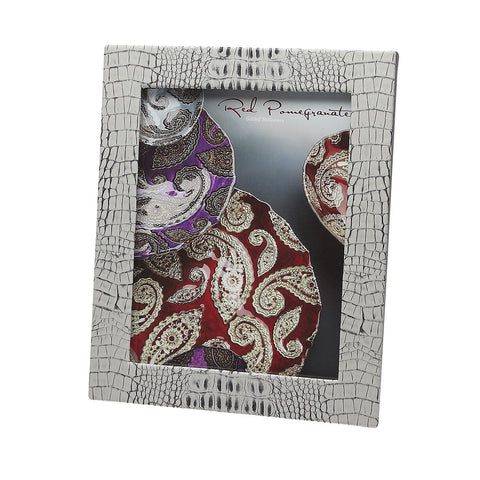 Crocodile Texture Two Tone Photo Frames 8x10 - Wilson Street - Red Pomegranate