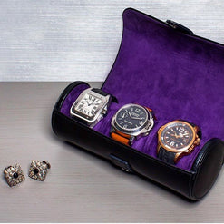 Blake Multi Watch Roll with Adjustable Dividers  - Wilson Street - Wolf 1834 - 1