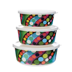Set of 3 French Bull® Stackable Food Storage Containers - 2 Patterns Bindi - Wilson Street - French Bull - 1