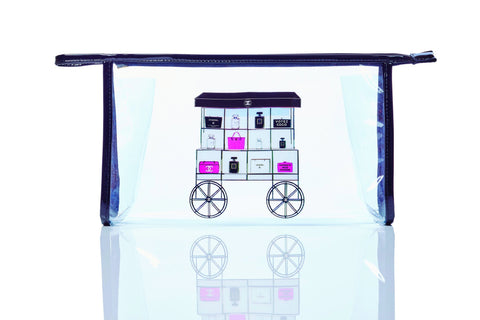 Designer Clear Makeup Bag Chanel Cart - Wilson Street - Toss Designs - 4