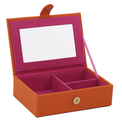 Brighton Travel Jewelry Box Orange - Wilson Street - Wolf 1834 - 1