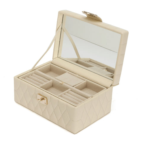Caroline Small Jewelry Box Cream - Wilson Street - Wolf 1834 - 2